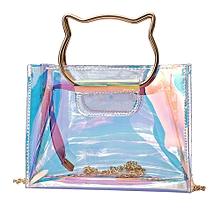 a6b094eb5352 Zetenis Women Laser Mini Chain Shoulder Bag Cat Handbag Lnclined Shoulder  Flap Bag -Multicolor