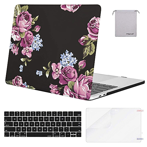 hot sale online fa628 0eb05 Laptop Plastic Hard Case For MacBook Pro 13 Case 2018 2017 2016 Release  A1989/A1706/A1708 Newest Mac Pro 13 Inch, Peony
