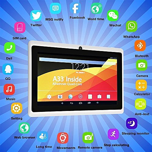 7'' Inch Android 4.4 Tablet PC Quad Core 8GB Dual Camera Kids Child
