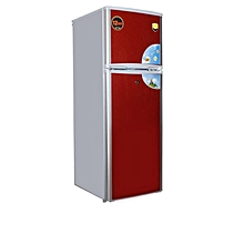 Double Door  Refrigerator -NX225 (Red & Silver) height=220