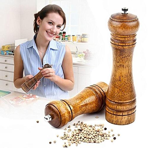 Pepper Spice Herb Grinder Wooden Cruet Mill Condiment Grinding Salt Gourmet