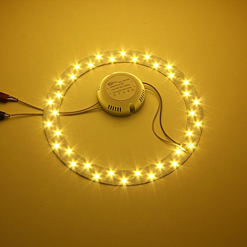 18W 5730 LED Panel Circle Annular Ceiling Light Fixture Board Lamp Replacement Warm White