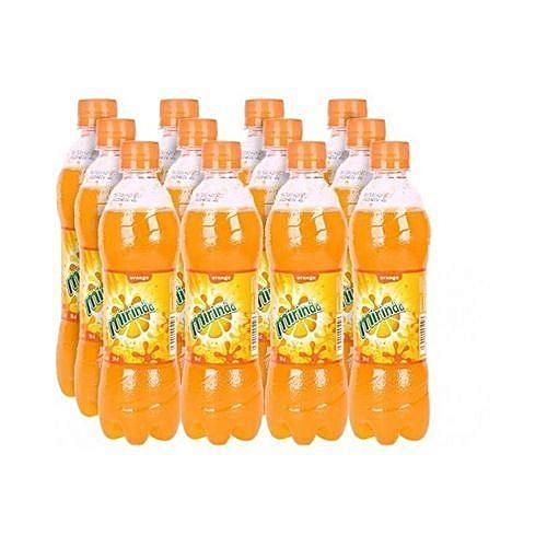 12 Packs Of L Mirinda Orange Plastic Bottles