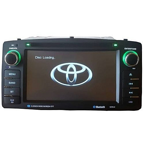 Toyota Corolla S 2003 - 2007 Car Stereo DVD Player With Aux., SD, USB & Bluetooth + 170 Degree Universal Waterproof Rear View Camera With 4 Led Lights