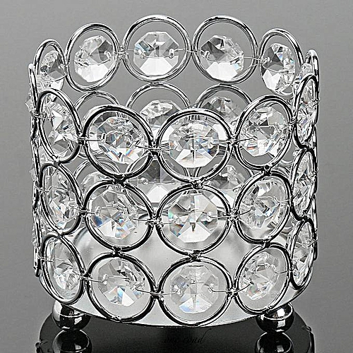 Crystal Wedding Party Event Table Tealight Votive Candle Holder Candlestick Silver