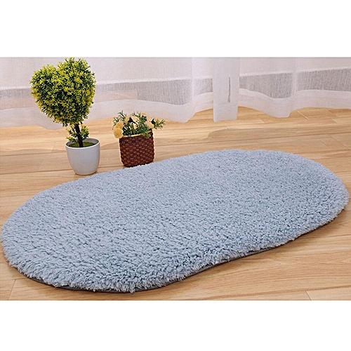 Anti-Skid Fluffy Area Rug Bedroom Home Bath Floor Shower Door Mat Silver-Gray