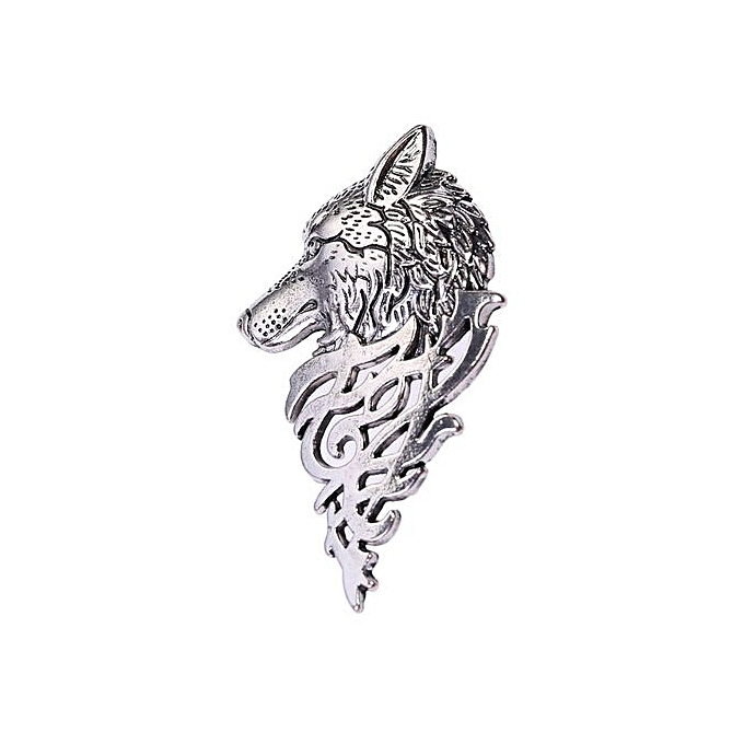 fashion fashion wolf head pattern blazer collar brooch for men gold