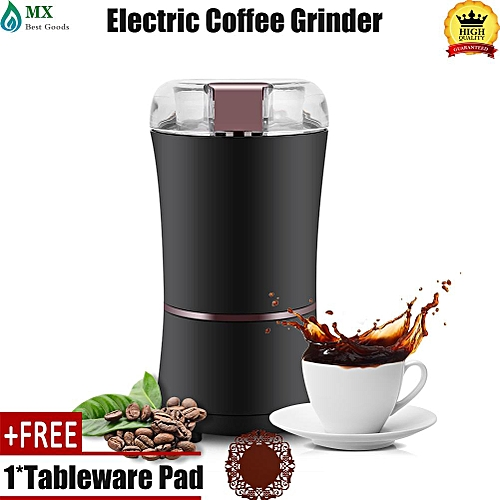 [free Gift] 400W Electric Coffee Mill Grinder Beans Spices Nuts Grinding Machine With Stainless Steel Blade
