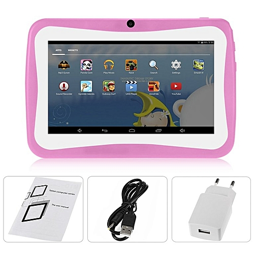 """7"""" Kids Tablet PC 1.5GHZ Quad Core 8GB WIFI Android Tablet 1024x600 Screen Pink"""
