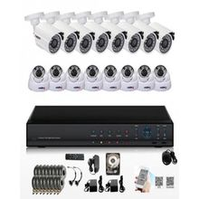 16 CCTV Camera Kit + 2TB HDD + 800m Rg59 CCTV Cable PLUS Remote Access and FREE Installation