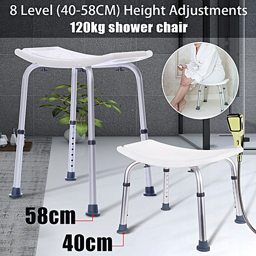 8 Height-Adjustable Medical Bath Tub Shower Chair Bench Stool Backless Seat Aid