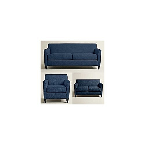 OMEGA FURNITURE SPECIAL ULTRA 6 SEATER SOFA 'NAVY BLUE' + 1 FREE OTTOMAN'(Delivery To Only Lagos State Costomers).