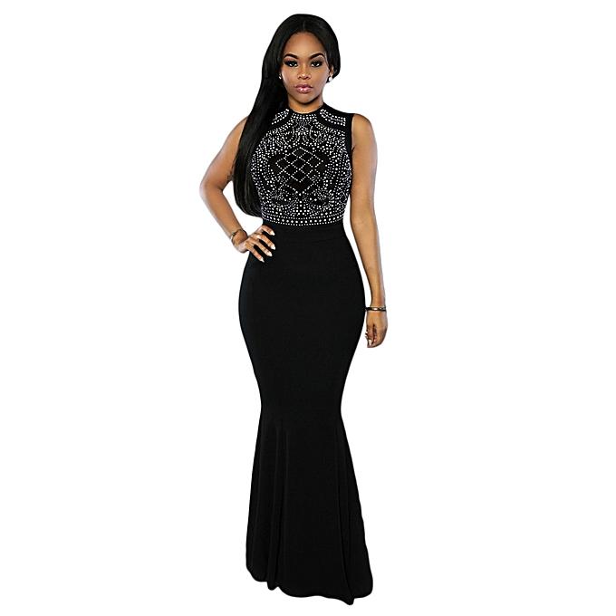 7b39ccc16d7 2017 Summer Women Sexy See Through Long Party Dress O Neck Sleeveless  Digital Print Bodycon Mermaid