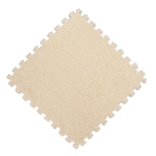 Dtrestocy 25X25cm Kids Carpet Foam Puzzle Mat EVA Shaggy Velvet Baby Eco Floor 7 Colors