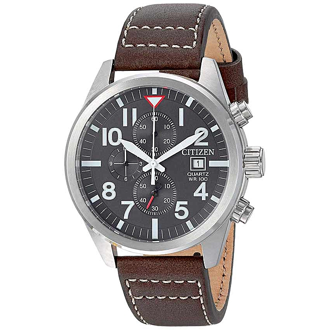 dc2d1e72e Citizen AN3620-01H Men's Chronograph Black Dial Brown Leather Watch ...