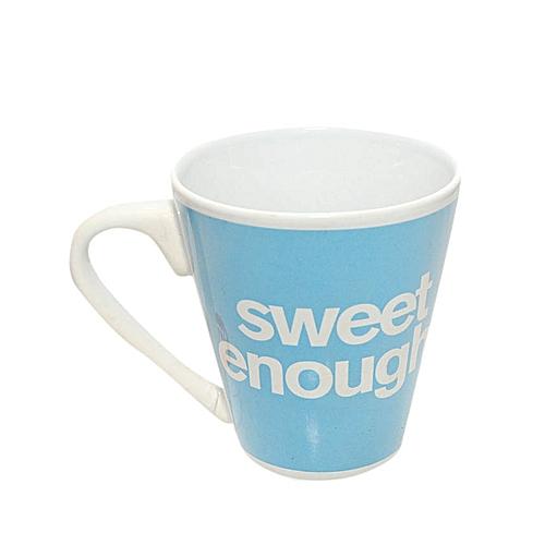 Mugs Elegant Text Sweet Enough Design (Blue)