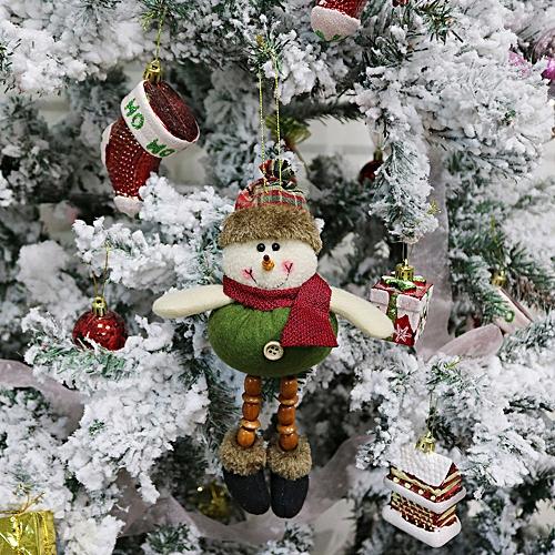 Christmas Ornament Santa Snowman Reindeer Toy Doll Hang Party Decoration Wannag