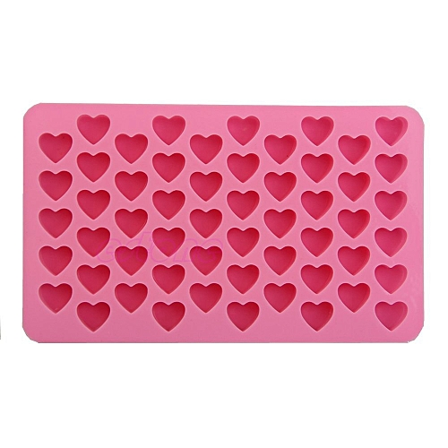 Leadsmart Silicone 55 Heart Shaped Candy Chocolate Cake Baking Pan Mold
