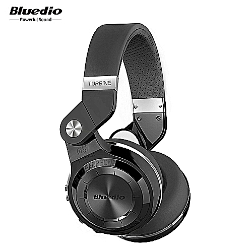Bluetooth Headphones With Mic—Black
