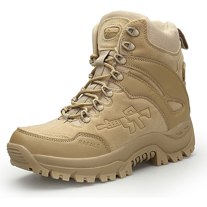 Men Desert Tactical Military Boots Mens Sand Boots Work Safty Shoes SWAT Army  Boot Militares Tacticos e78ebd9e8e50