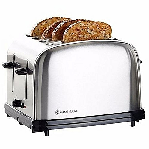 4 Slice Toaster - Black/Silver