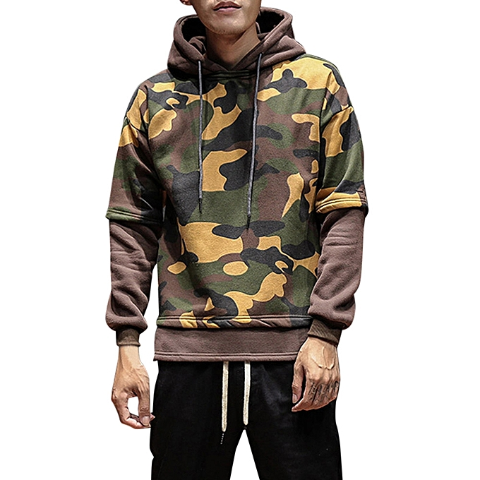 fe94ad4c4d430 Eissely Men Warm Camouflage Jacket Hooded Winter Coat Overcoat ...