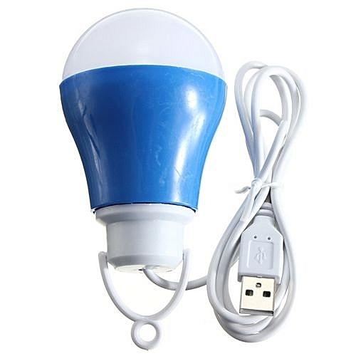 USB Led Pend Bulb Camping 5W 5V _ Blue