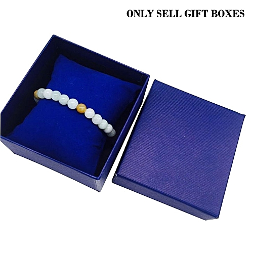 Present Gift Box Case For Bangle Jewelry Ring Earrings Wrist Watch Storage Blue