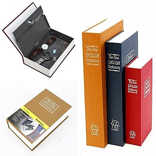 Metal Steel Cash Secure Hidden English Dictionary Money Box Coin Storage Box Secret Piggy Bank M