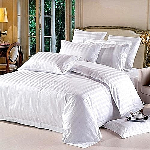 Bed Sheet & Duvet With Four Pillow Cases