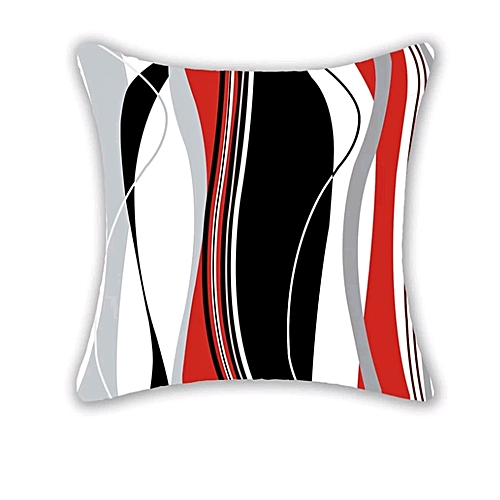 Contemporary Throw Pillow - Black And Red