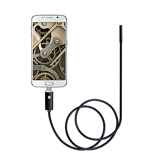 2 In 1 Android PC 7mm Lens Endoscope Inspection Wire Camera IP67 Waterproof 10m - Black