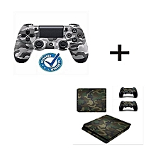 PlayStation 4 [PS4] Dualshock 4 Wireless Controller Game Pad + Free Ps4 Camouflage Vinyl Sticker + 2 Pcs Console Sticker for sale  Nigeria