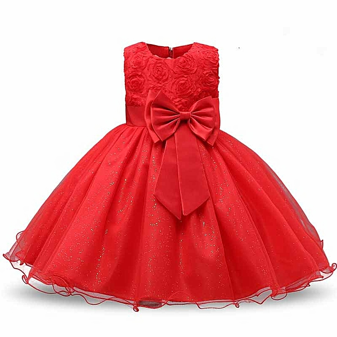 3c77cf80d14 Sweet Kids Baby Girl s Lace Dress Chiffon Gown Party Dresses Wedding  Bridesmaid Dress (Color