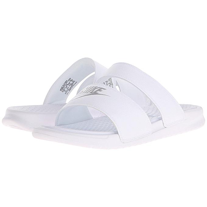 039c3f4728f1 Nike Nike Benassi Duo Ultra Slide - White Metallic Silver