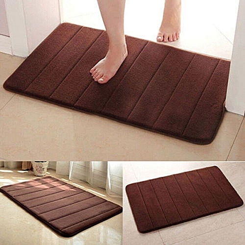 Memory Foam Mat Absorbent Slip-resistant Pad Bathroom Shower Bath Mats Coffee