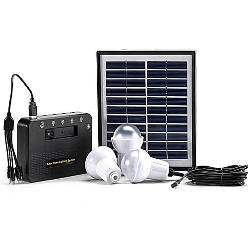 3 LED Light Bulbs Solar Kit- Lithium Battery - USB Charging
