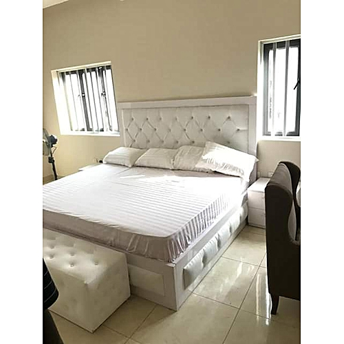Makson6by6 Bedframe+Legrest-Free Pillows-Free Lagos Delivery