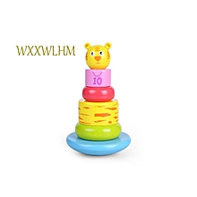 Set Wooden Rainbow Tower Jenga Baby Colorful Layer Ring Toy for sale  Nigeria