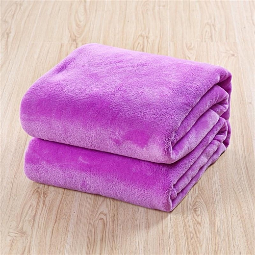 High Quality Super Soft Flannel Plain Bedspread Blanket Throws Fleece Blanket Manta Coberto For Sofa/Bed/Car/Office # 50x70cm