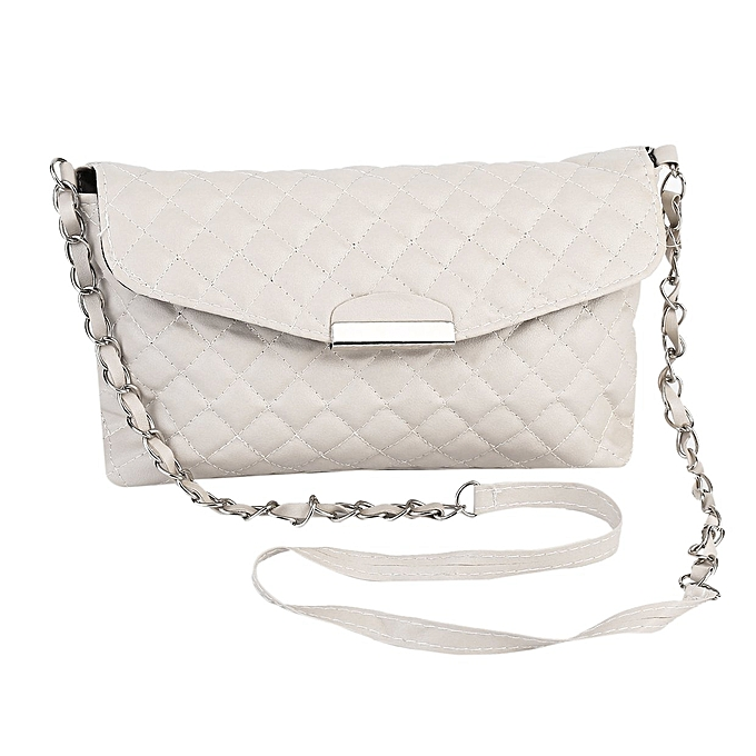 Women Shoulder Bag PU Leather Clutch Chain Handbag Tote Purse Messenger  White 0ff389082