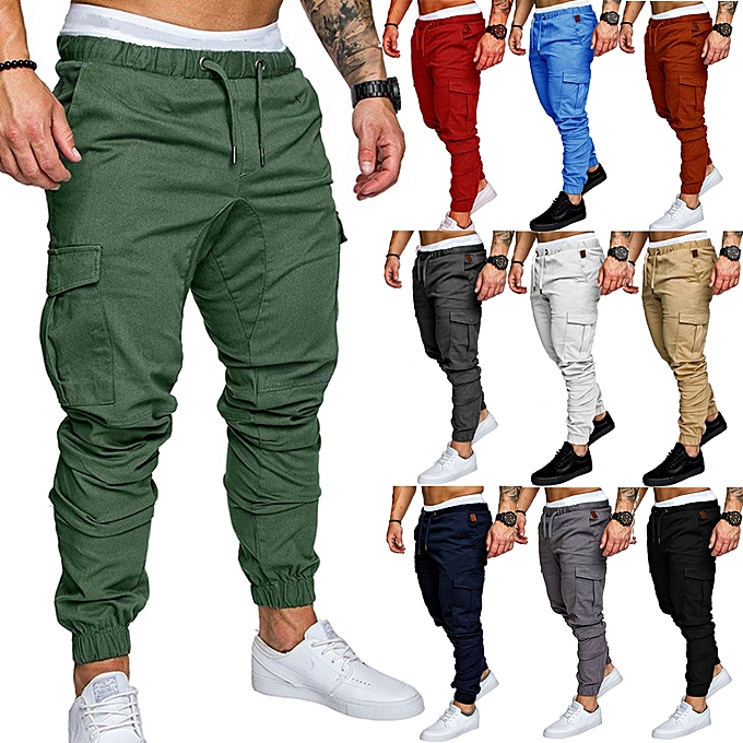 f8b2eb99cdced Fashion Men's Sport Joggers Hip Hop Jogging Fitness Casual Pants ...