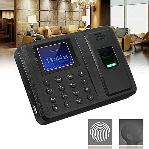 Fingerprint & Password Attendance Clock Employee Recorder