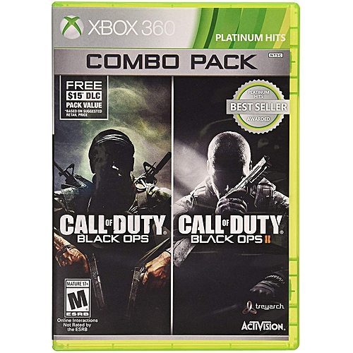 CALL OF DUTY BLACK OPS 1&2 COMBO PACK XBOX 360