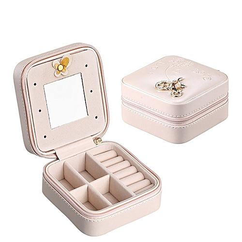 Minijewelry Box Makeup Organizer Earrings Storage Ontainer Graduation Pink