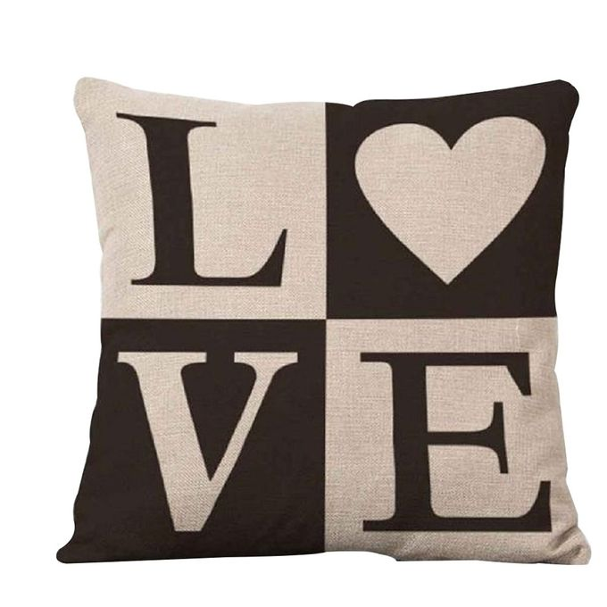 bluelans love letter printed pillow case bed sofa square