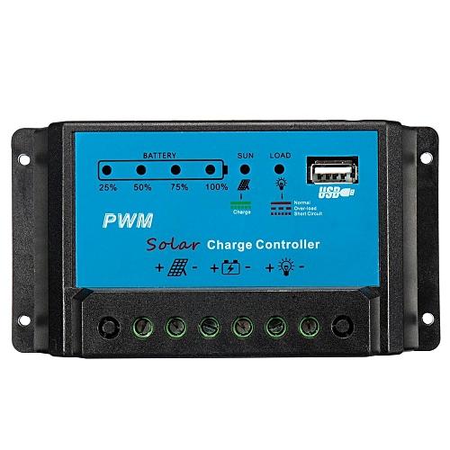Intelligent 30A PWM Solar Panel Charge Controller 12V 24V Auto Battery Regulator