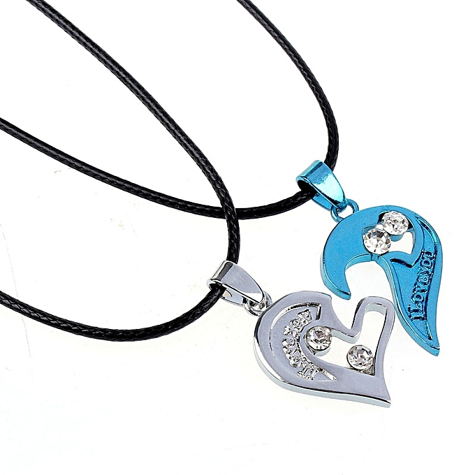Buy neworldline two in one i love you heart pendant necklace lovers two in one i love you heart pendant necklace lovers couples gift blue aloadofball Image collections