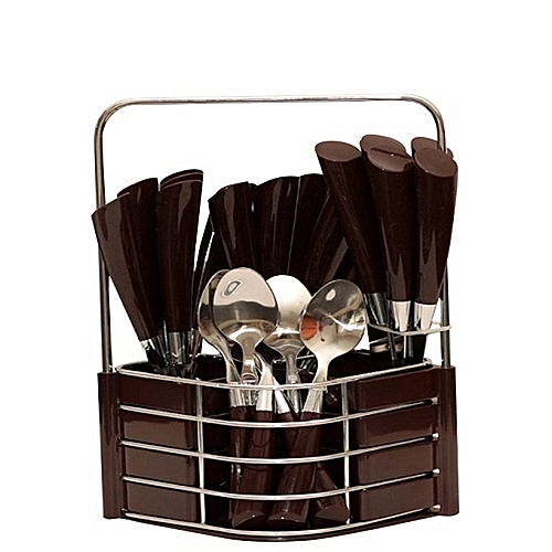Cutlery Set With Holder - 24pcs