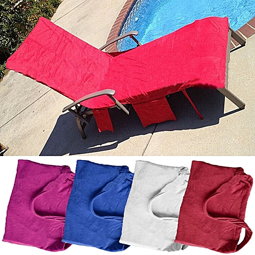 Summer Microfiber Lounge Chair Beach Towel With Pockets Holidays Sunbathing Towel
